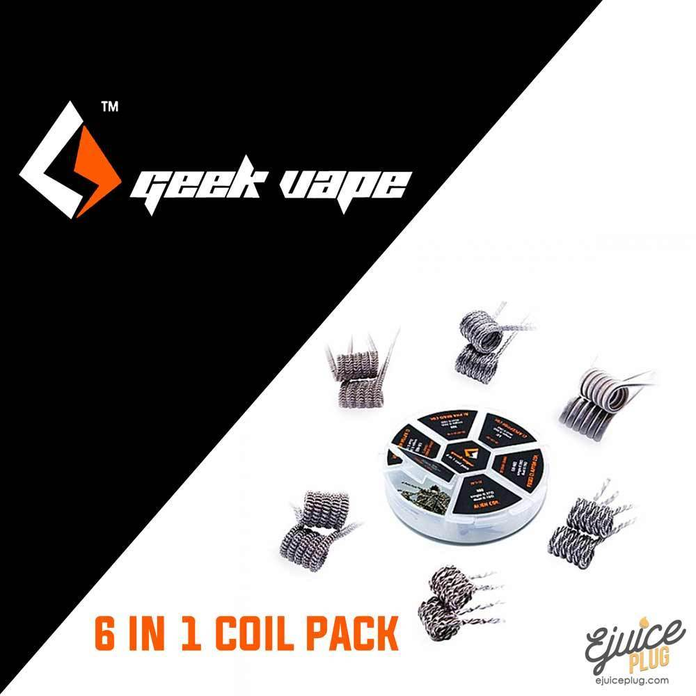 Geek Vape,- Geek Vape -6 in 1 Coil Pack - E-Juice Plug