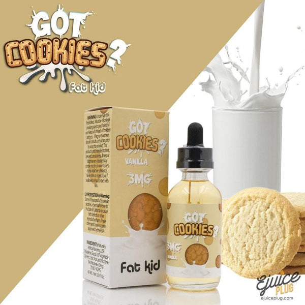 Got Cookies?,- Got Cookies? Vanilla by Fat Kid EJuice 60ml - E-Juice Plug