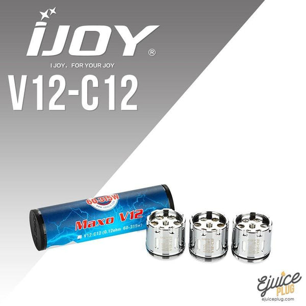 IJOY,- IJoy MAXO V12 Replacement Coils (3-Pack) - E-Juice Plug