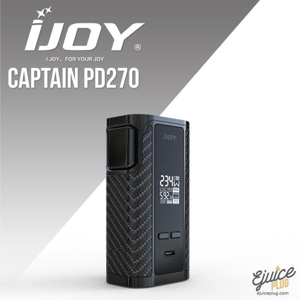 IJOY,- iJoy Captain PD270 234W TC Box Mod - E-Juice Plug