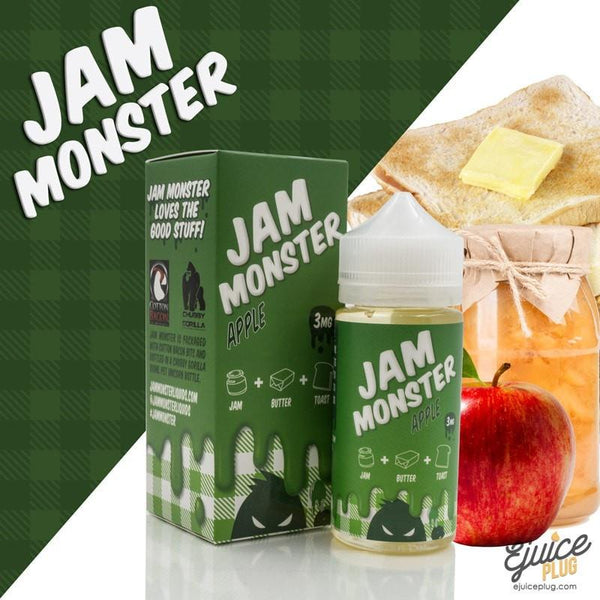 Jam Monster Eliquid,- Apple 100ml by Jam Monster Eliquids - E-Juice Plug