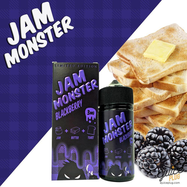 Jam Monster Eliquid,- Blackberry 100ml by Jam Monster Eliquids - E-Juice Plug