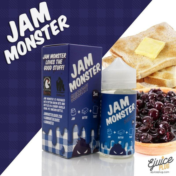 Jam Monster Eliquid,- Blueberry 100ml by Jam Monster Eliquids - E-Juice Plug