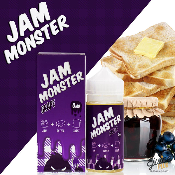 Jam Monster Eliquid,- Grape 100ml by Jam Monster Eliquids - E-Juice Plug