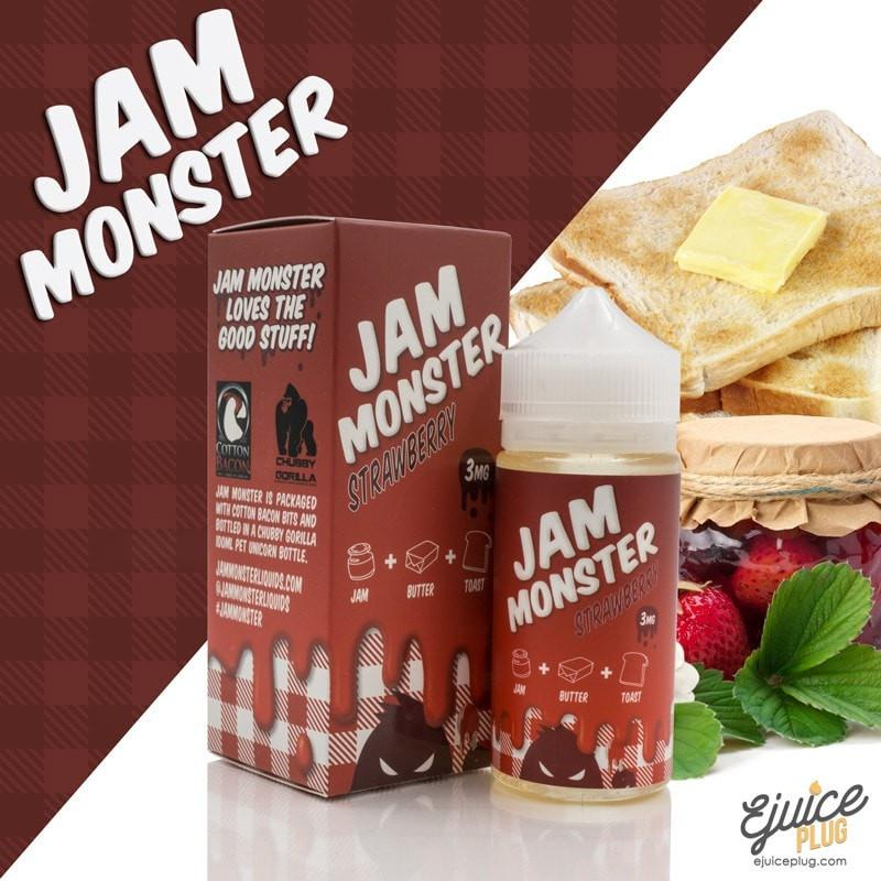 Strawberry 100ml by Jam Monster Eliquids