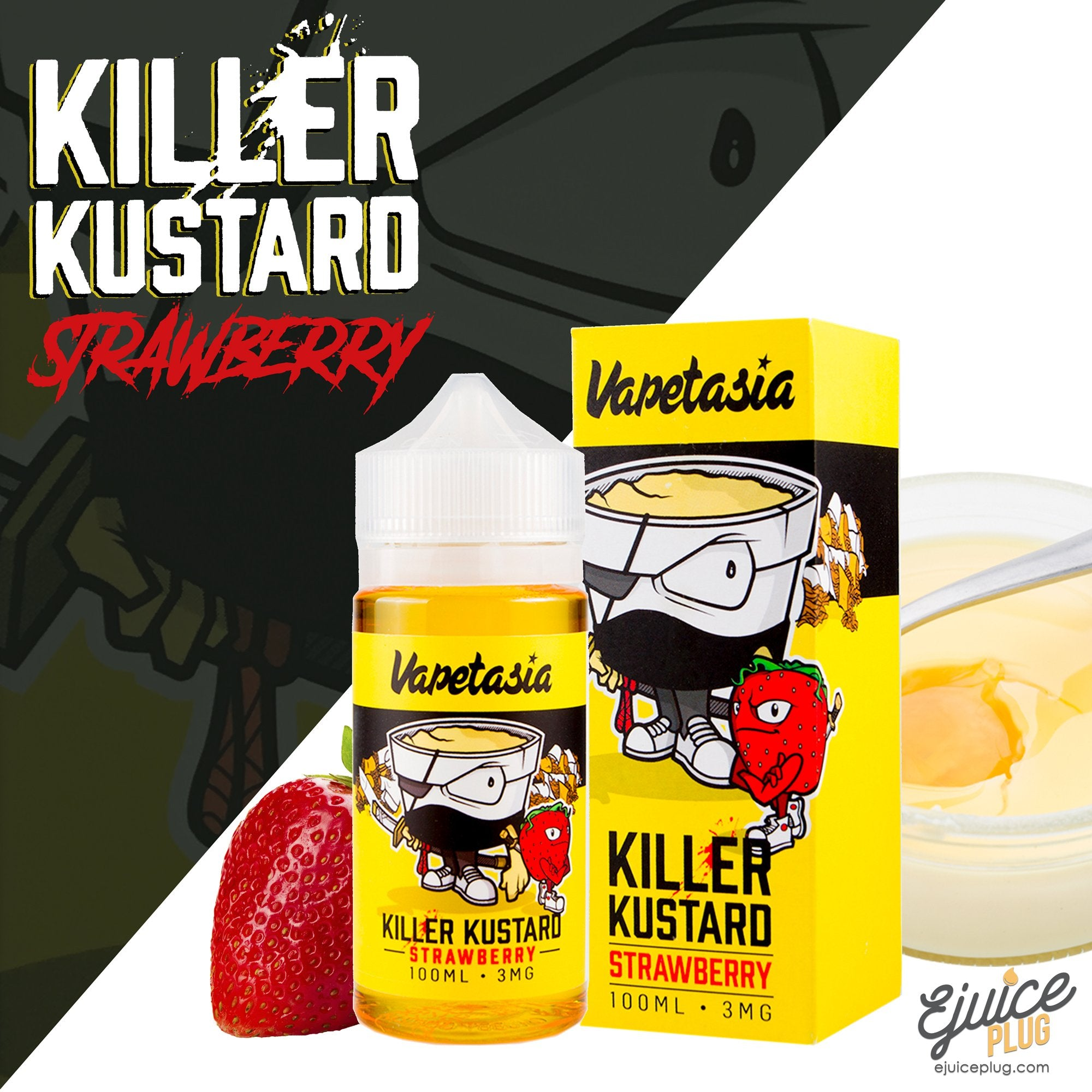 Vapetasia E-Liquid Strawberry Killer Kustard 100mL Product Image
