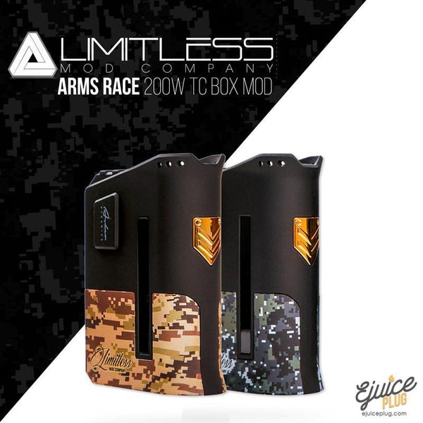 Limitless Mod Co,- Limitless Arms Race LMC 200W dual 18650 Box Mod - E-Juice Plug