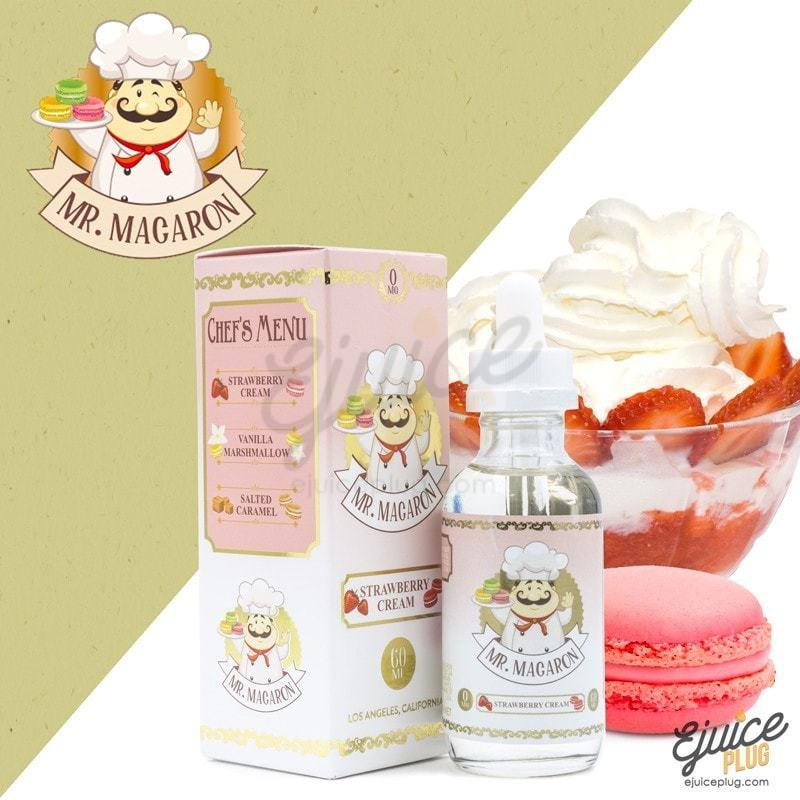 Mr. Macaron,- Mr. Macron Strawberry Cream - E-Juice Plug