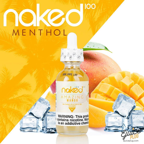Naked100,- Amazing Mango Menthol by Naked 100 60ml E-Liquid - E-Juice Plug