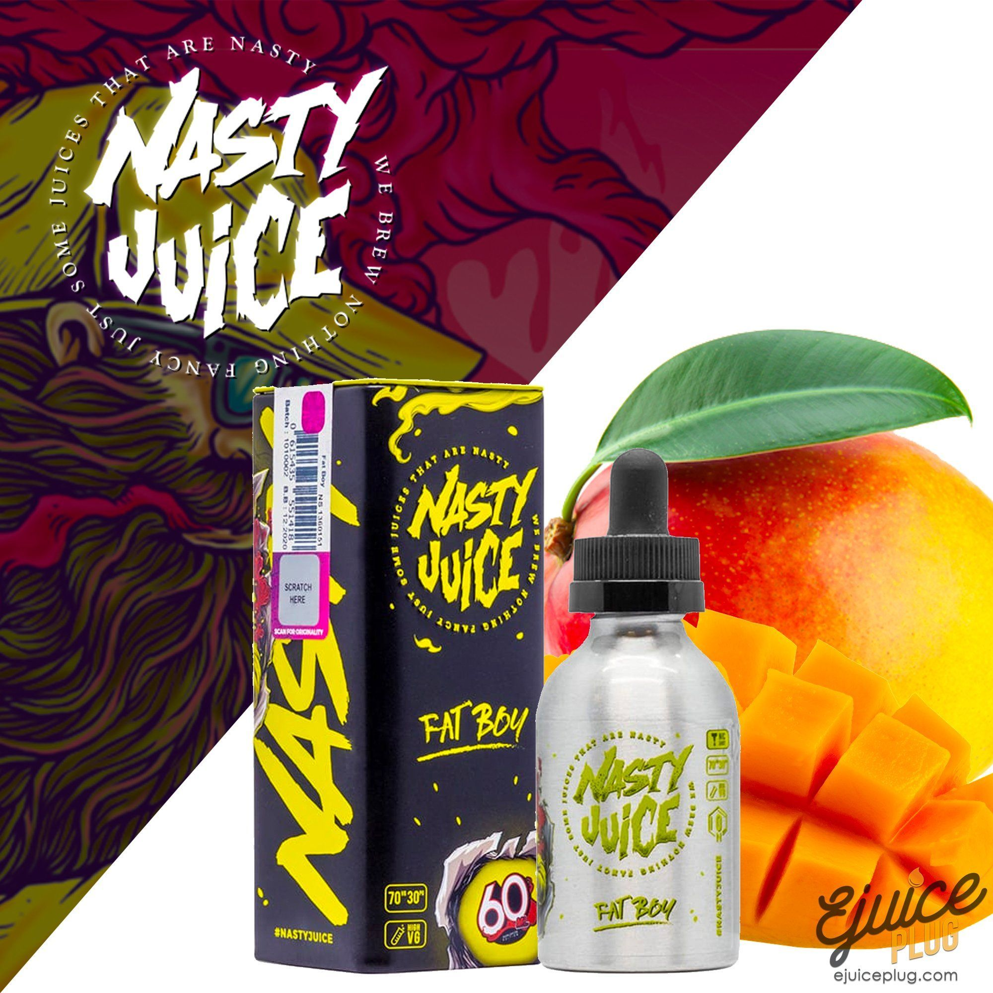 Nasty Juice,- Fat Boy by Nasty Juice 60ml - E-Juice Plug