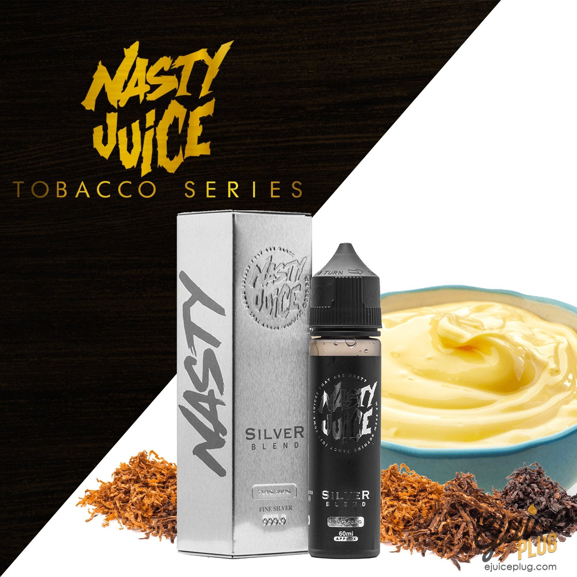 Nasty Juice,- Silver Blend Tobacco Series by Nasty Juice 60ml - E-Juice Plug