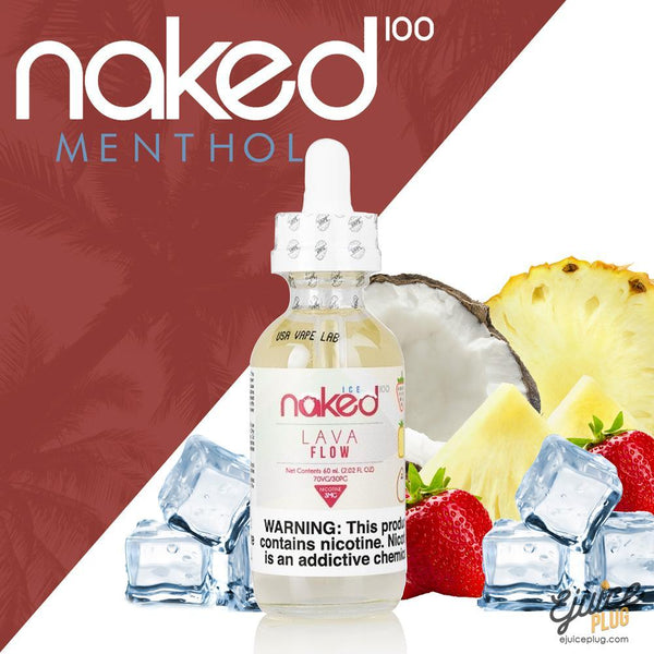 Naked100,- Lava Flow Menthol by Naked 100 60ml E-Liquid - E-Juice Plug