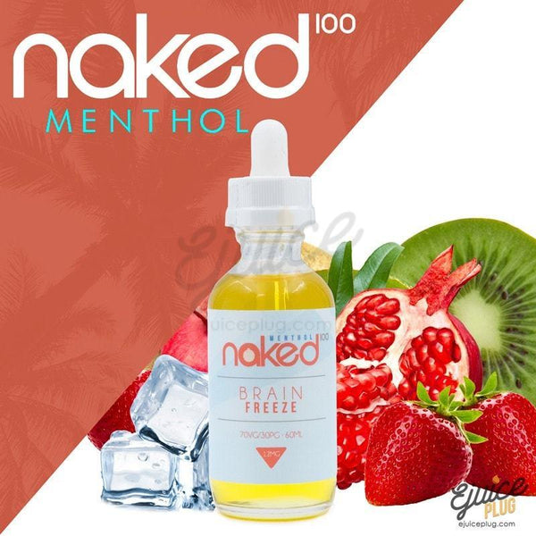Naked100,- Brain Freeze Menthol by Naked 100 60ml E-Liquid - E-Juice Plug