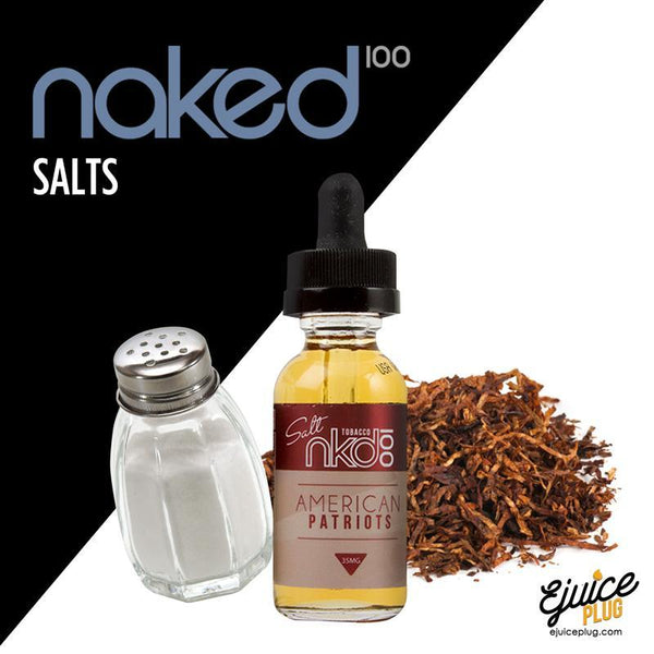 Naked 100 Salts,- American Patriots Salts by Naked 100 Salts - E-Juice Plug