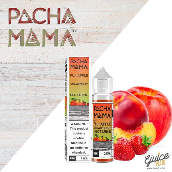 Pacha Mama,- Fuji Apple Strawberry by Pacha Mama 60ml - E-Juice Plug