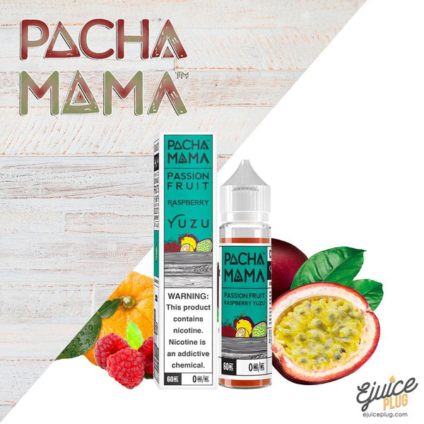 Pacha Mama,- Passion Fruit Raspberry Yuzu by Pacha Mama 60ml - E-Juice Plug