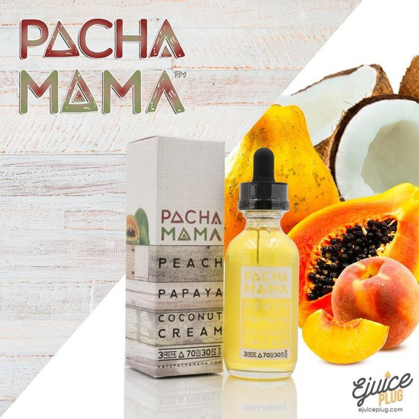 Pacha Mama,- Peach Papaya Coconut Cream Ejuice By PACHAMAMA 30ml - E-Juice Plug