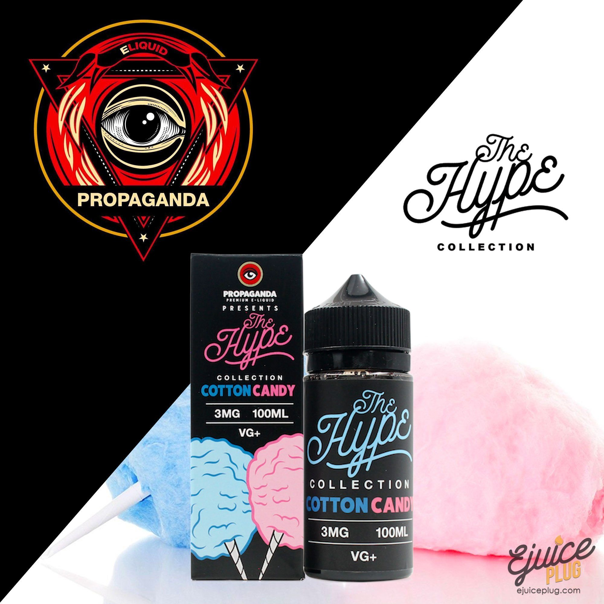 Propaganda E-Liquid,- Cotton Candy The Hype Collection by Propaganda E-Liquid - E-Juice Plug