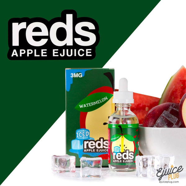 Watermelon Iced Red's Apple E-Juice by 7 Daze 60mL