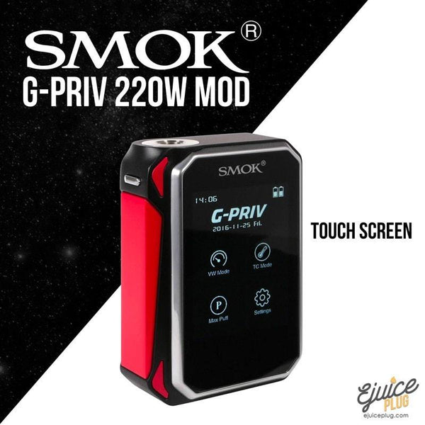 SMOK,- SMOK - G-Priv 220W TC Touch Screen Mod - E-Juice Plug