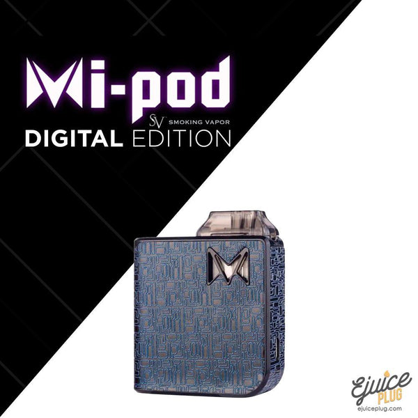 SMOKING VAPOR,- Mi-Pod Starter Kit Digital Edition by Smoking Vapor - E-Juice Plug