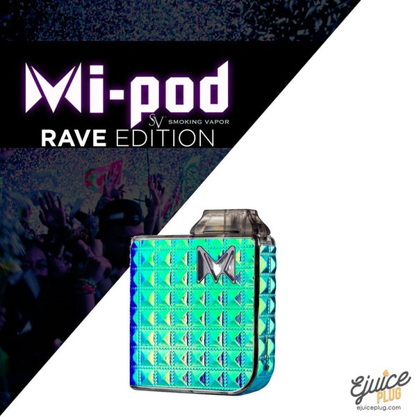 SMOKING VAPOR,- Mi-Pod Starter Kit Rave Edition by Smoking Vapor - E-Juice Plug