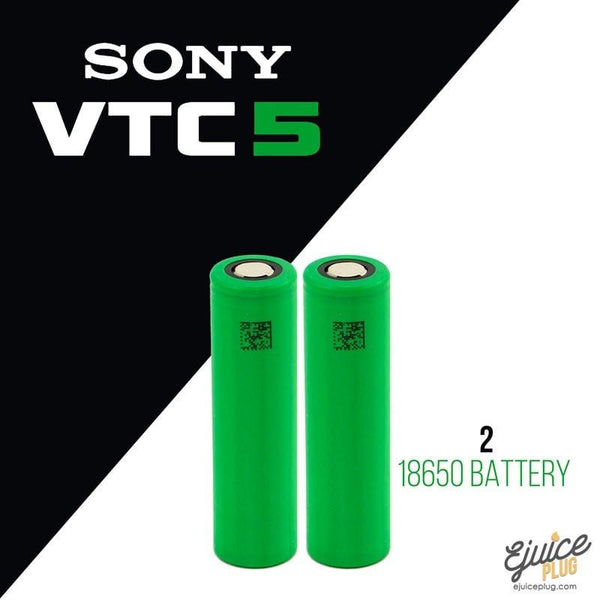 Sony,- SONY VTC 5 - 18650 Battery Pair of 2 - E-Juice Plug