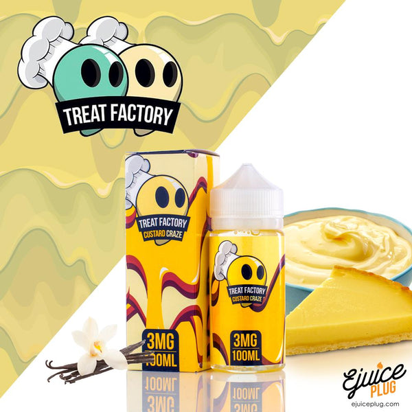 Treat Factory E-Liquids- Custard Craze-100ml