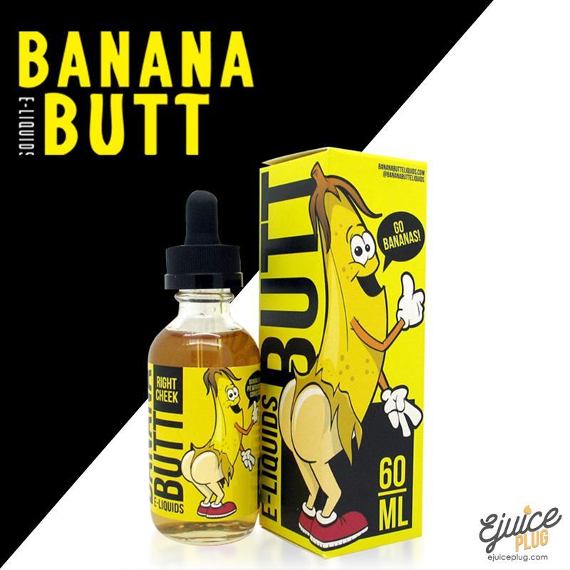 Banana Butt E-Liquids,- Right Cheek By Banana Butt E-Liquids - E-Juice Plug