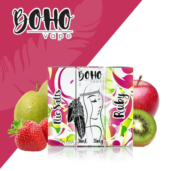 Boho Vape Salt,- Ruby Salt Nic by Boho Vape 30ml - E-Juice Plug