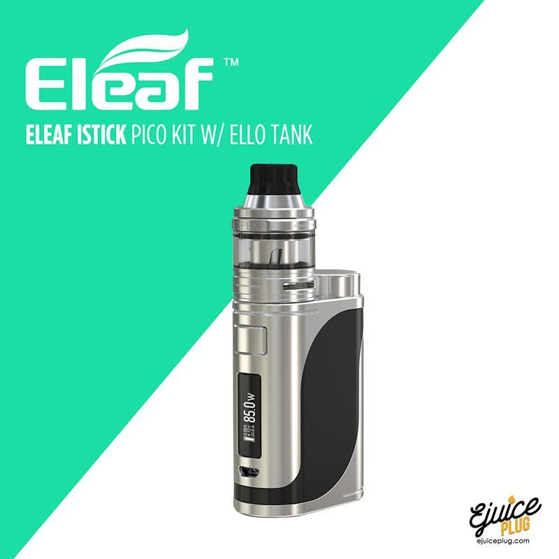 Eleaf,- Eleaf iStick Pico 21700 with ELLO Tank (Battery Included) - E-Juice Plug
