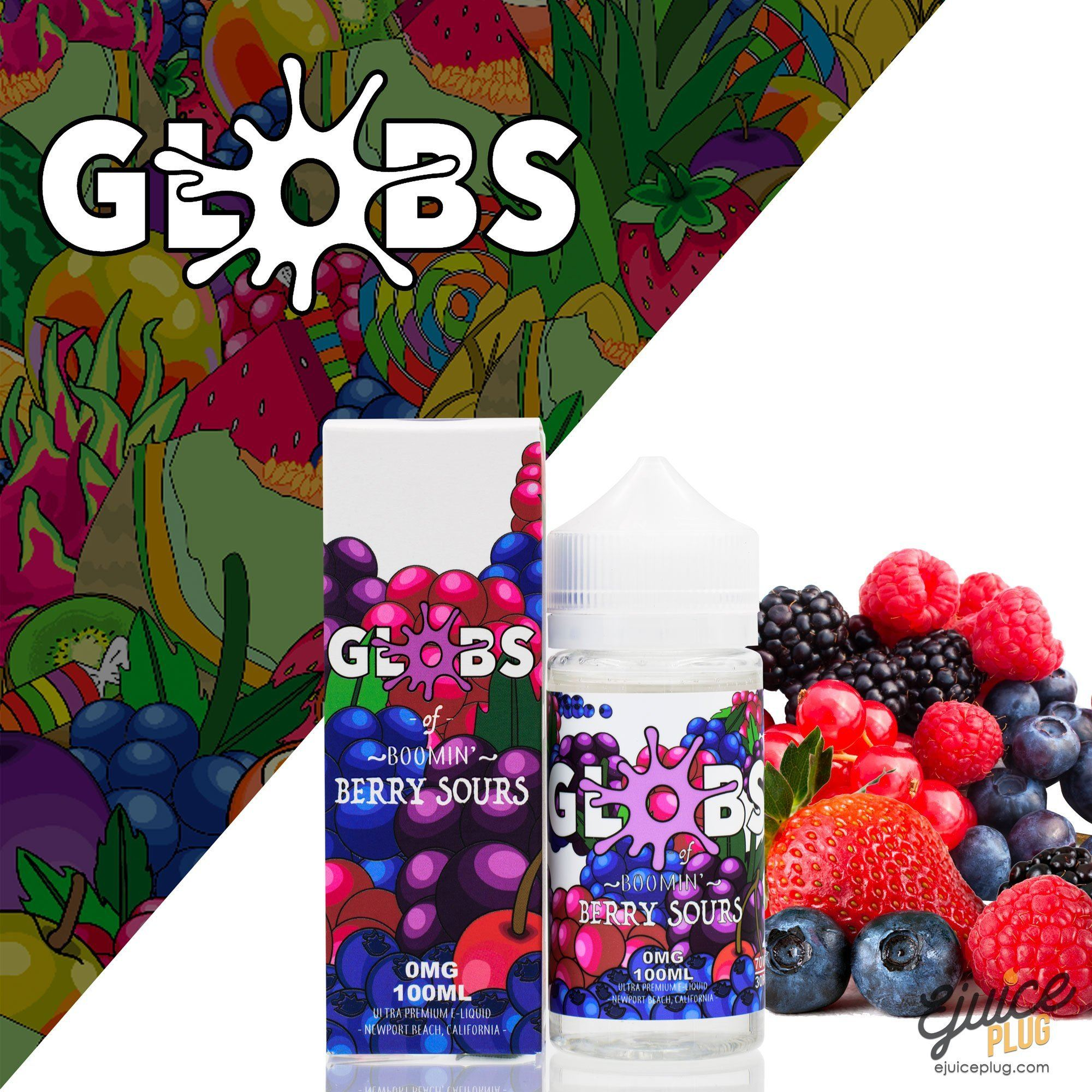 Globs Juice Co.,- Berry Sours 100ml by Globs Juice Co. - E-Juice Plug