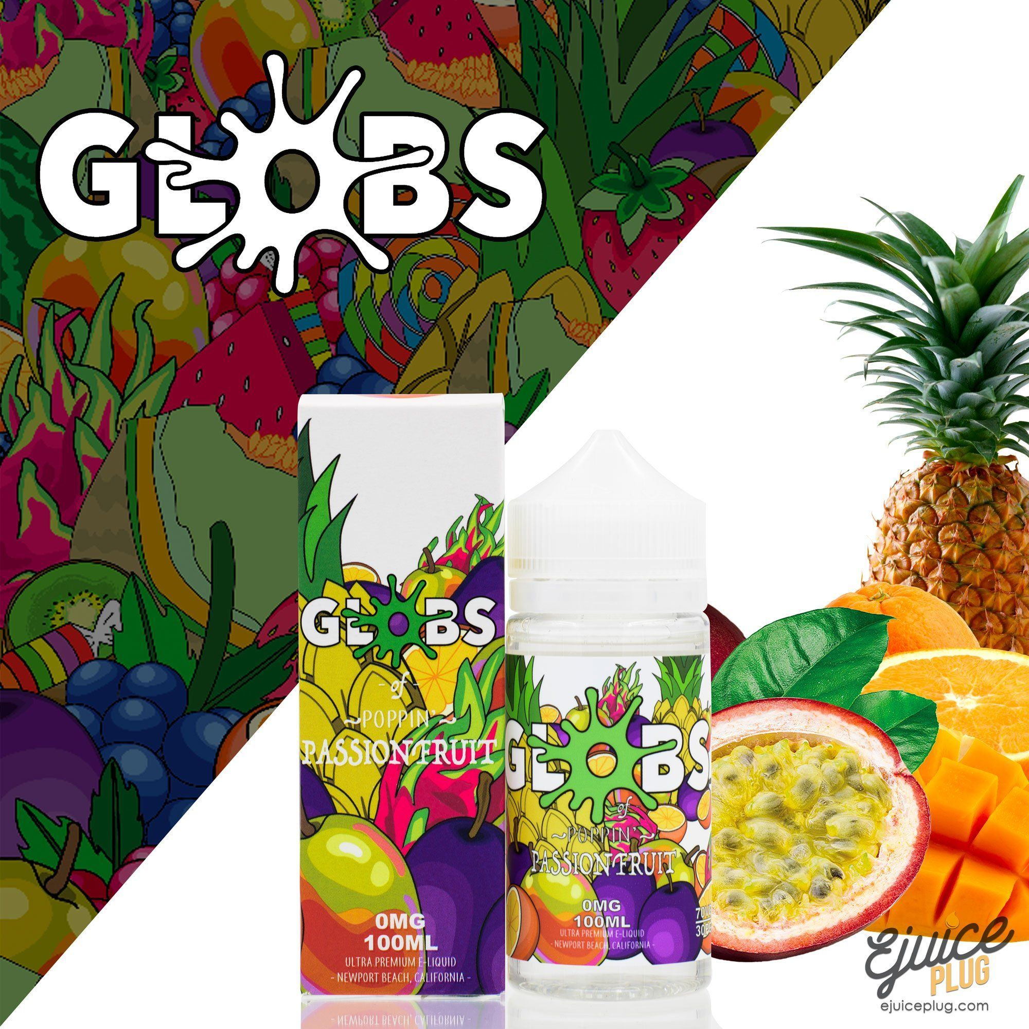Globs Juice Co.,- Passion Fruit 100ml by Globs Juice Co. - E-Juice Plug