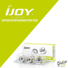 IJOY,- iJoy Captain X3 Replacement Coil Pack - E-Juice Plug