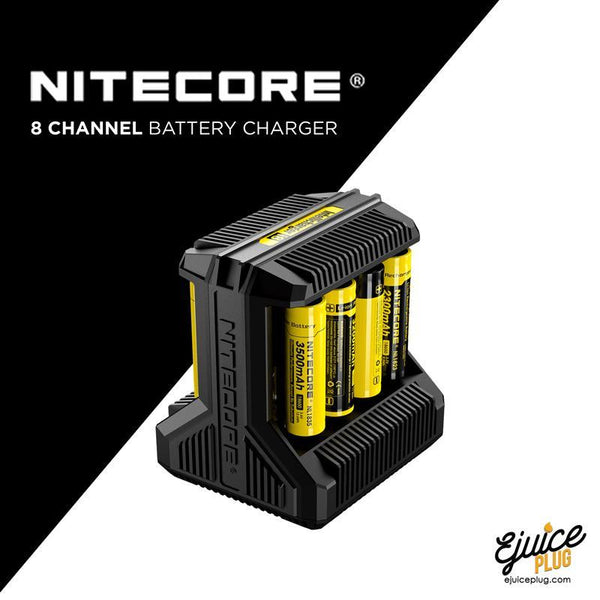 NITECORE,- Nitecore i8 8 Channel Battery Charger - E-Juice Plug