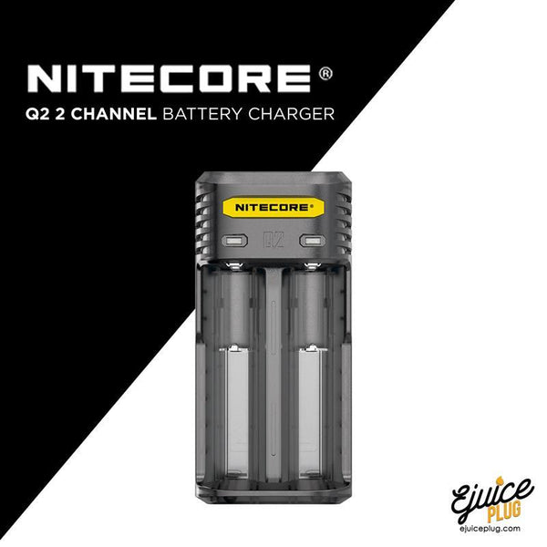 NITECORE,- Nitecore Q2 2 Channel Battery Charger - E-Juice Plug