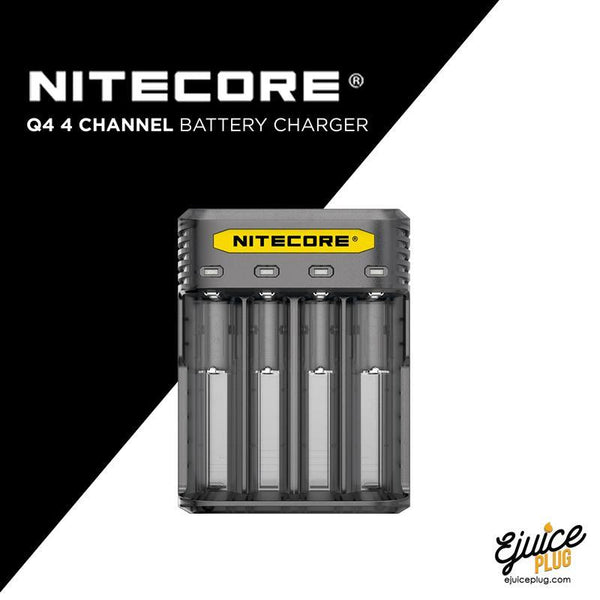 NITECORE,- Nitecore Q4 4 Channel Battery Charger - E-Juice Plug