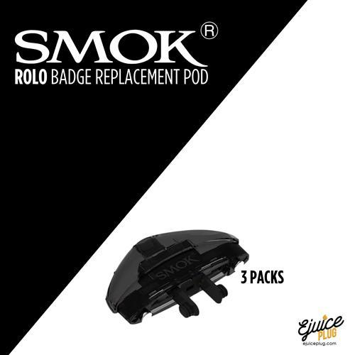 SMOK,- Rolo Badge Replacement Pods 3 pack - E-Juice Plug