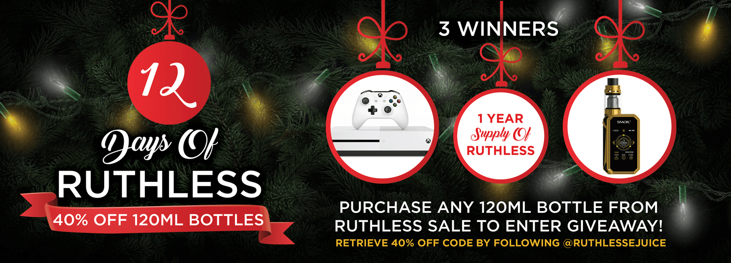Ruthless Holiday Sale Banner