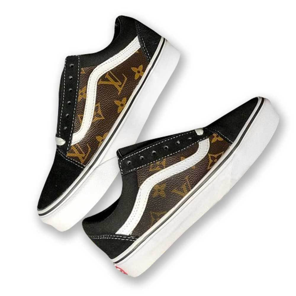 e20727c51a Authentic 2-Sided Louis Vuitton Vans Old Skool – GLIMPX