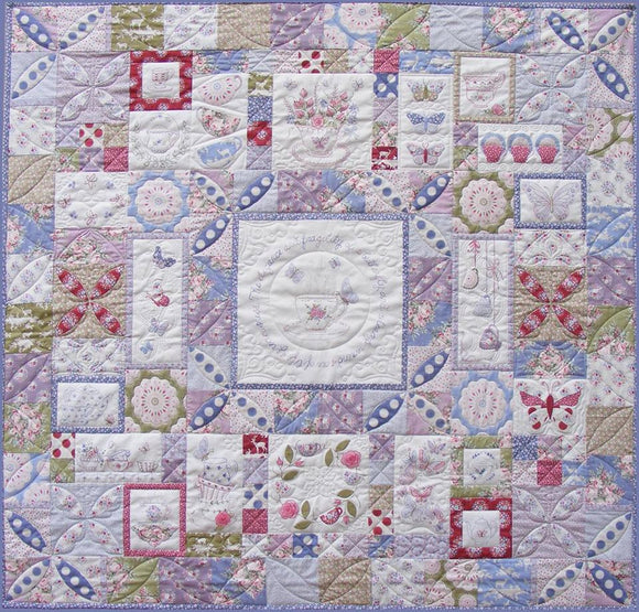 Teacups and Butterflies Quilt Pattern and Thread Kit