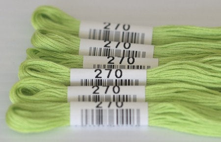 Cosmo Embroidery Floss #270 Lime Green