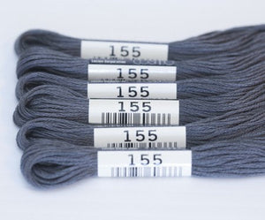 Cosmo Embroidery Floss #155 Dark Grey