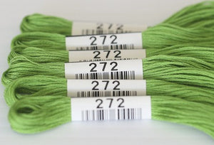 Cosmo Embroidery Floss #272 Apple Green