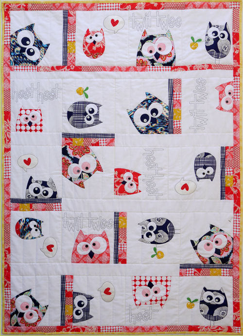 Family of Owls Applique Quilt Pattern