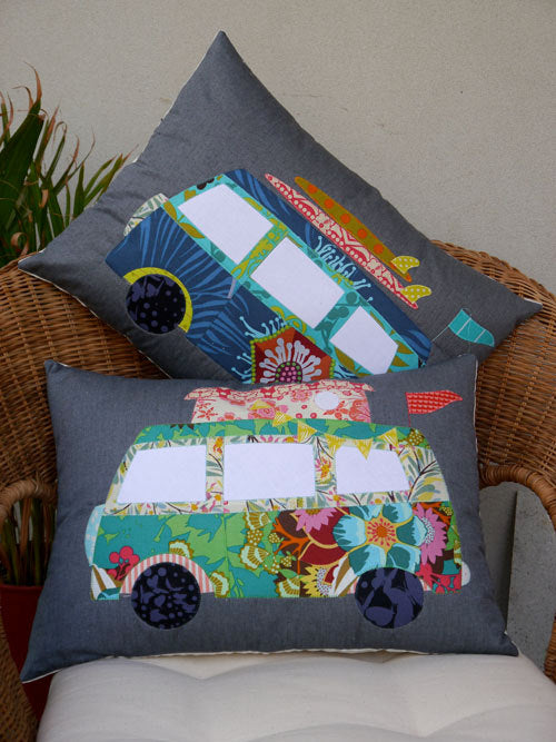 Camper Van Applique Cushion Pattern