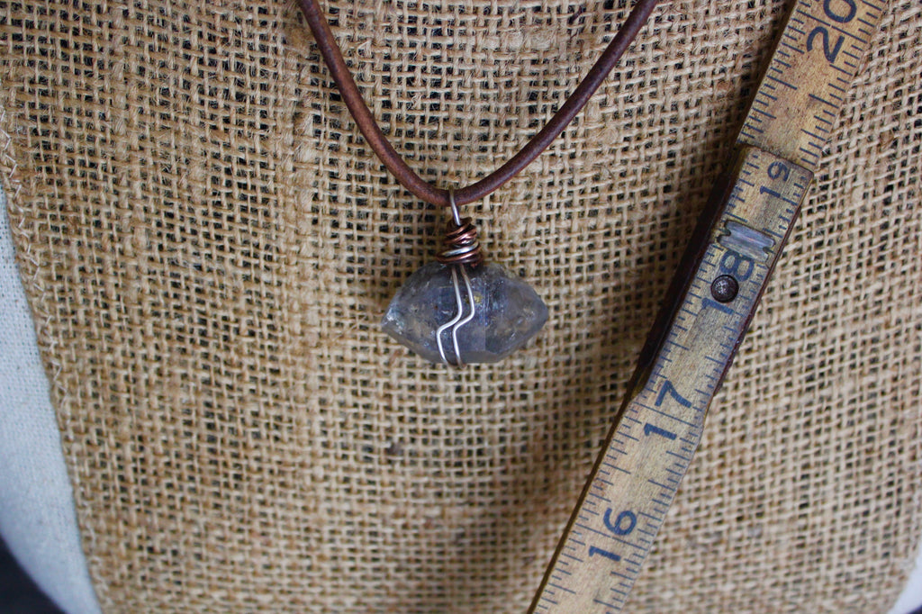 Tibetan Herkimer Quartz Necklace