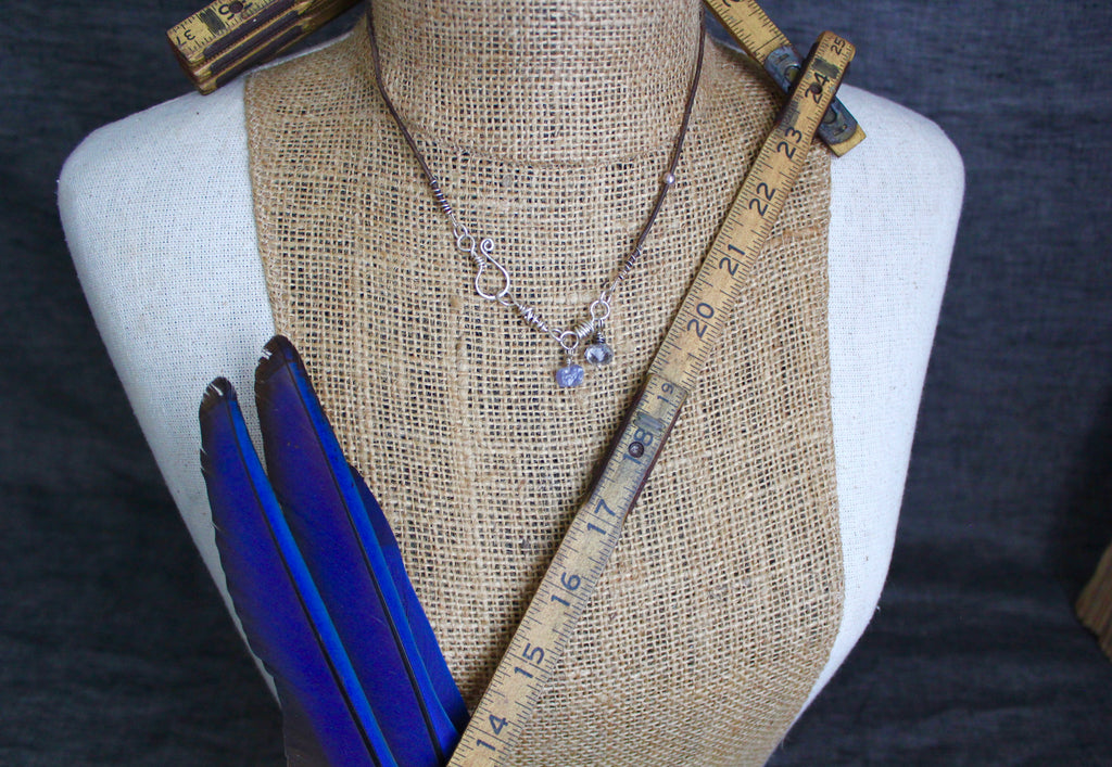 Natural Tanzanite & Herkimer Necklace