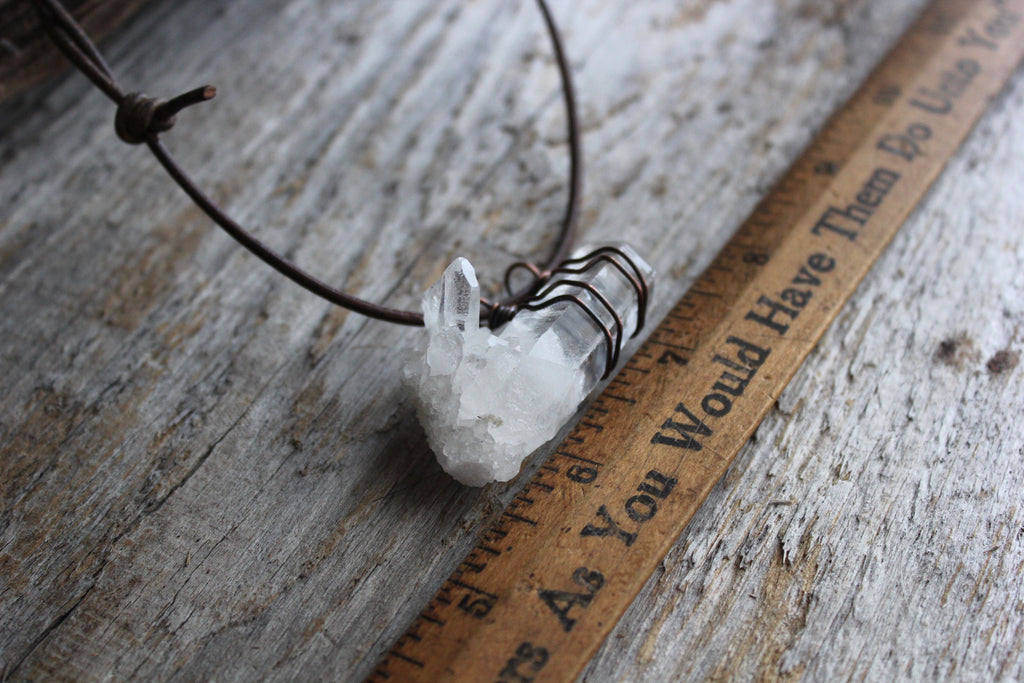 Raw Crystal Cluster Necklace