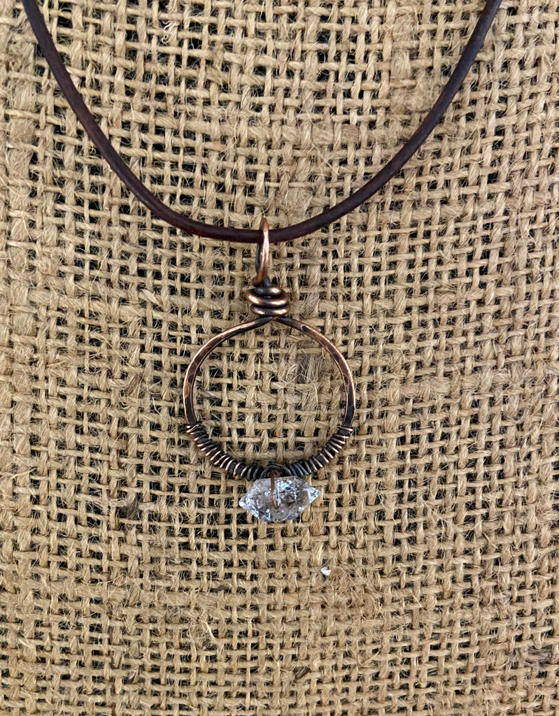 HERKIMER DIAMOND CIRCLE NECKLACE